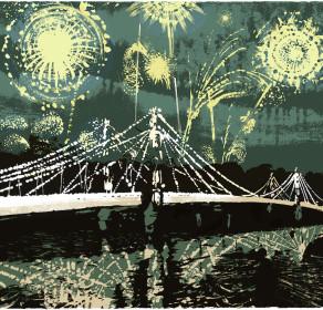 Fireworks over Battersea