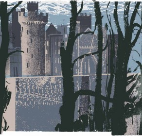 Arundel Castle through Trees (blue)
