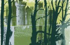 Arundel Castle through Trees (yellow)