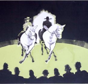 Giffords Circus, Jack and Cartuchio do the the Dosey Doe