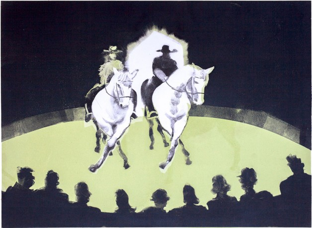 Giffords Circus, Jack and Cartuchio do the the Dosey Doe